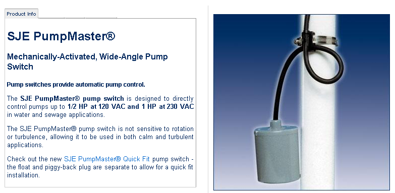 Mechanically-Activated, Wide-Angle Pump Switch   Megatron